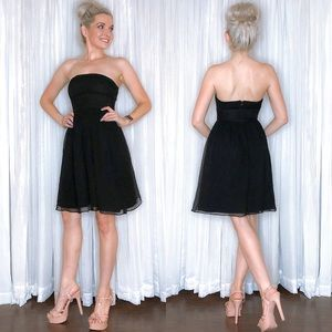 J Crew Strapless Black Bridesmaid Dress